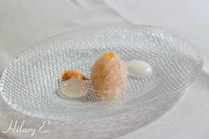 Tartare of Prawns and Lemongrass Gel