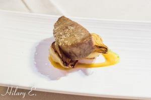 Grilled Tuna Steak with Caramelized Onion