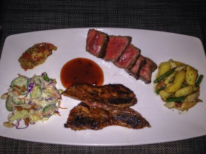 Grilled Sirloin Steak and Short Ribs