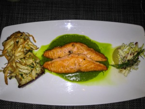 Sauteed Scottish Salmon with Flan of Kabocha
