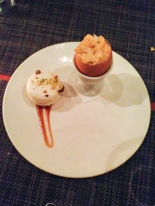 Egg & Pistachio Macaron